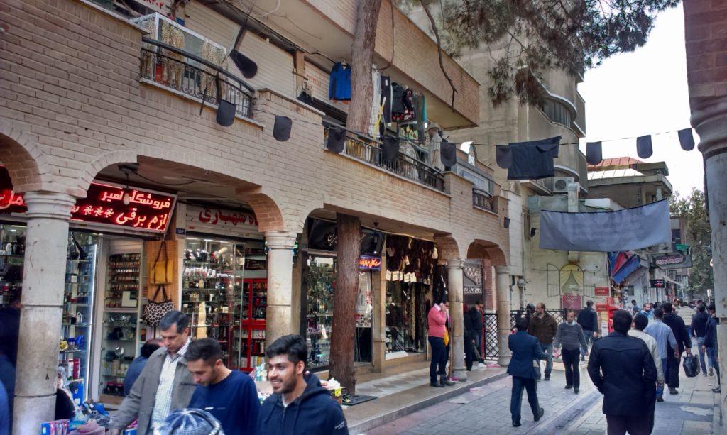 Nemravnosti na teheránské ulici